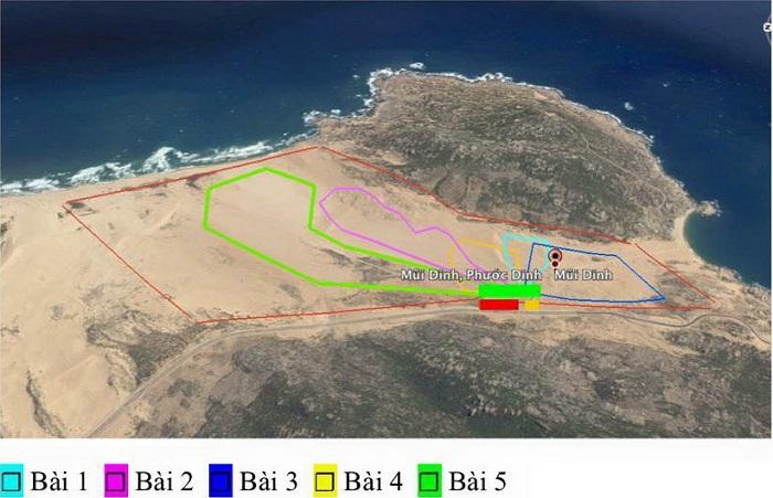 Sơ đồ đường đua xe địa hình trên cát mui dinh ninh thuận