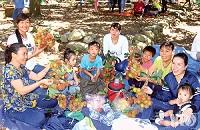 Mô hình du lịch vườn tại xã Lâm Sơn phát triển mạnh